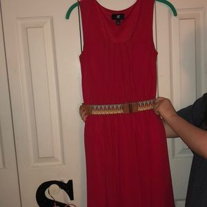 Iz Byer Dresses - Red dress with cute belt